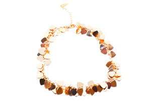 Golden Hearts Anklet