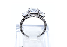 3 Squares wedding ring