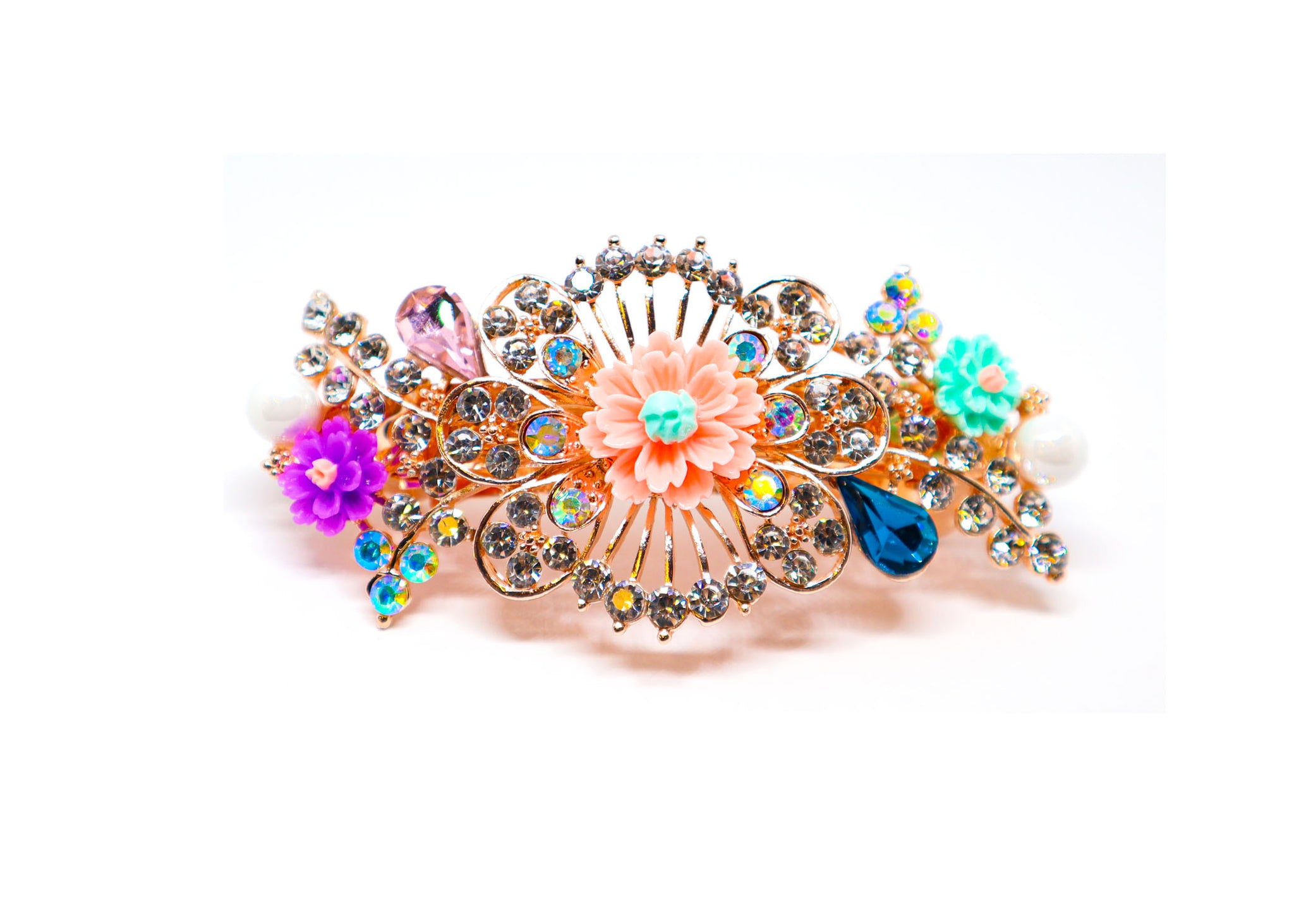 Colored fancy hair clip