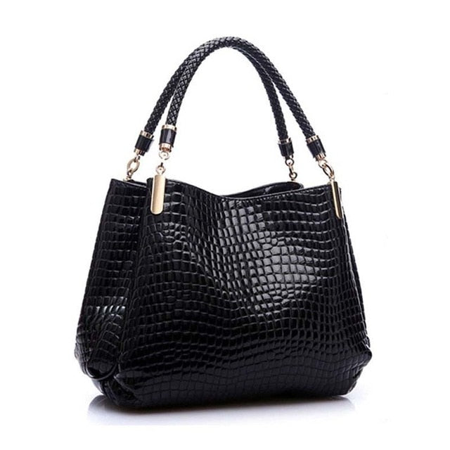 Crocodile PU Leather Handbags Women Purse Pattern shoulder Bags