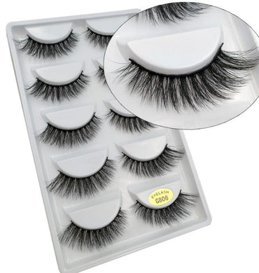 5 Pairs 3D Mink Lashes Thickness False Eyelashes