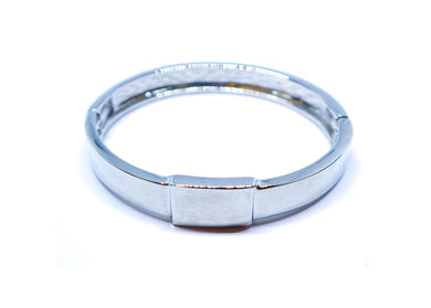 Square Silver-Color Bracelet