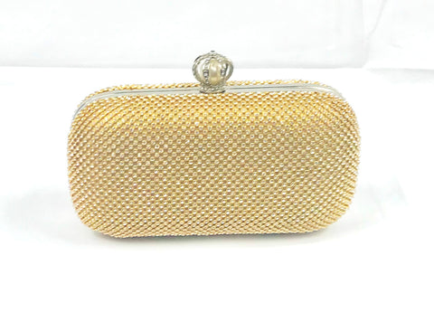 Gold Rectangular Studded Purse