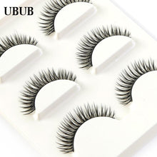 3 Pairs Professional Hand Made Soft Eyelash Charming Natural Long False Eyelashes Extensions Sexy Eye lashes Makeup Beauty Tools