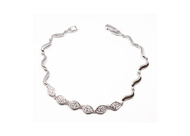 Silver color Studded Bracelet