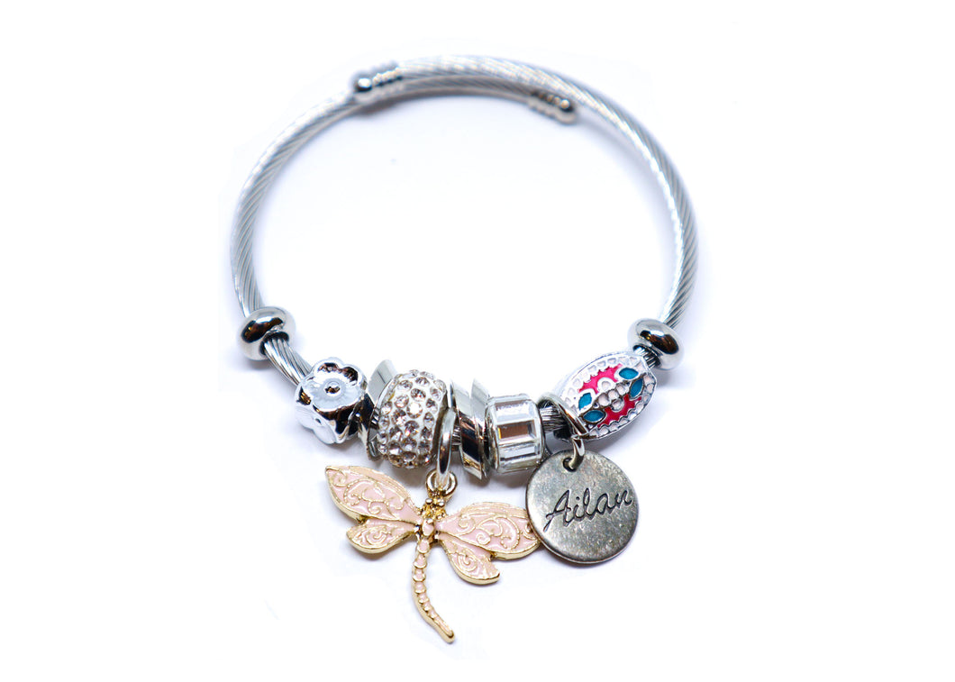 Dragon Fly Charm Bracelet