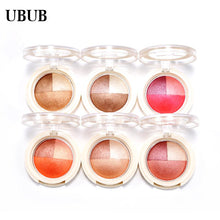 UBUB 3 Colors Eyeshadow Baked Roast Glitter Metallic Nude Smoky Primer Eye Shadow Waterproof Natural Easy to Wear Makeup Palette