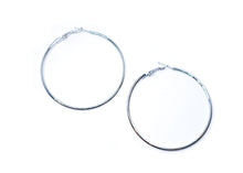 Silver 2 Inches Hoop Earrings