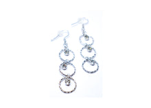 Circle Studded Droop Earrings