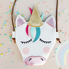 Cute Cartoon Animal Horse Leather Shoulder Bag Coin Purse Messenger Bag Babies Girls Kids Gift Mother Baby Diaper Bags Outdoor