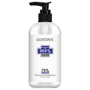 GOTDYA 300ml Wash Free Hand Alcohol Spray Gel Hand Sanitizer with 75% Alcohol