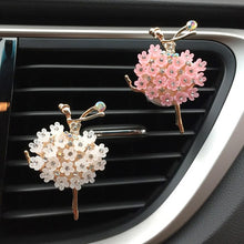 Car Aroma Diffuser Fragrance For Car Flavoring Air Fresheners Auto Perfume Car Smell Vent Clip Ballet Bling Car Accessory Girls