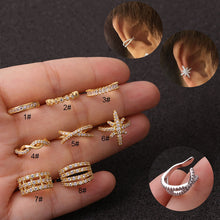 1Pc Fake Ear Piercing Jewelry 10mm Adjustable Helix Cartilage Conch Cz Ear Cuff No Piercing Conch Cuff Earring