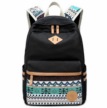 Canvas Shoulder Bag Student Bag National Wind Travel Backpack Computer Bag ladies college wind tide