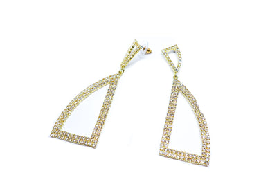 Golden studs Droops earrings