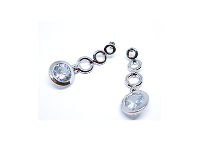 Silver color  Droop earrings