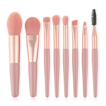 7 pcs Little Cute Pink Makeup Brushes Set Foundation Powder Eyeshadow Blending Brush Eyebrow Eyelash Brush Beauty Make Up Tools