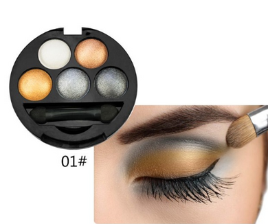 UBUB Eyeshadow Palette Eye Shadow Powder Metallic Shimmer Makeup Beauty Profissional Make Up Warm Color Waterproof 5 Colors