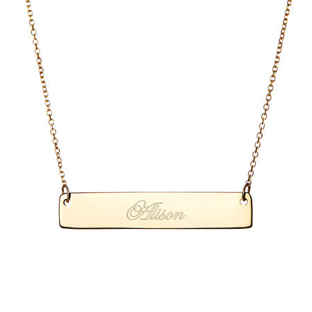 Engravable  Petite Name Bar Necklace