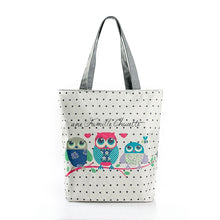 Vintage Women Canvas Bags Large Thai Owl Tote bag HandBag