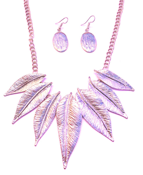 Tree levies necklace + earrings set