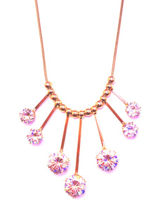 7 big studs gold color necklace