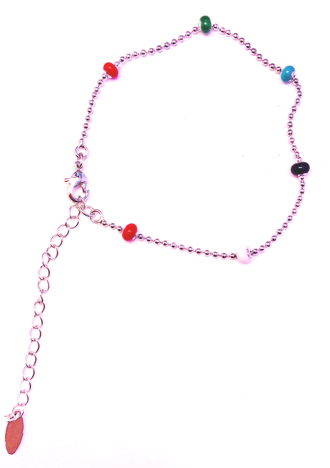 Colored anklet