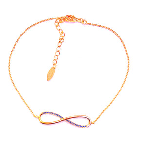 Golden infinity anklet