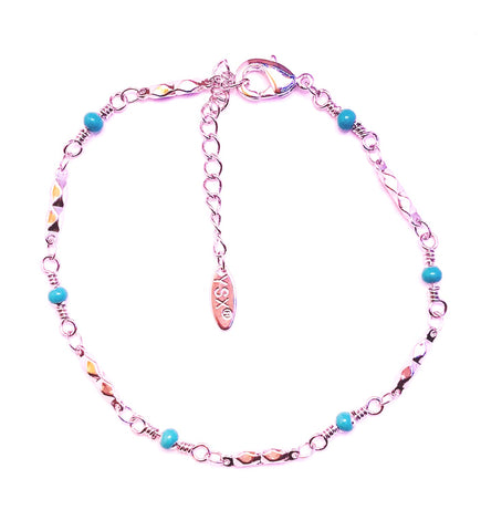 small blue balls anklet