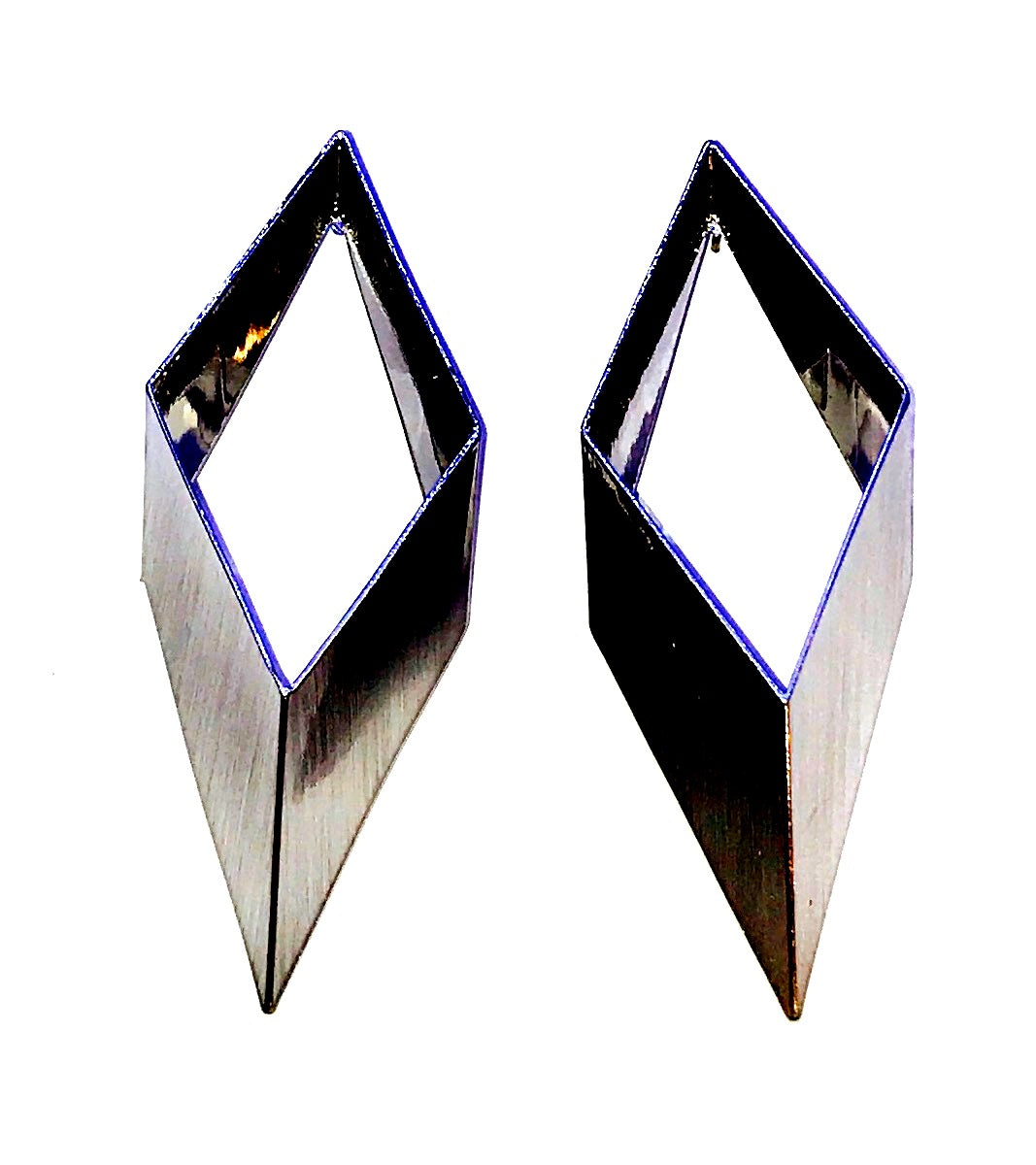 Silver Diamond Shape earrings  Ole
