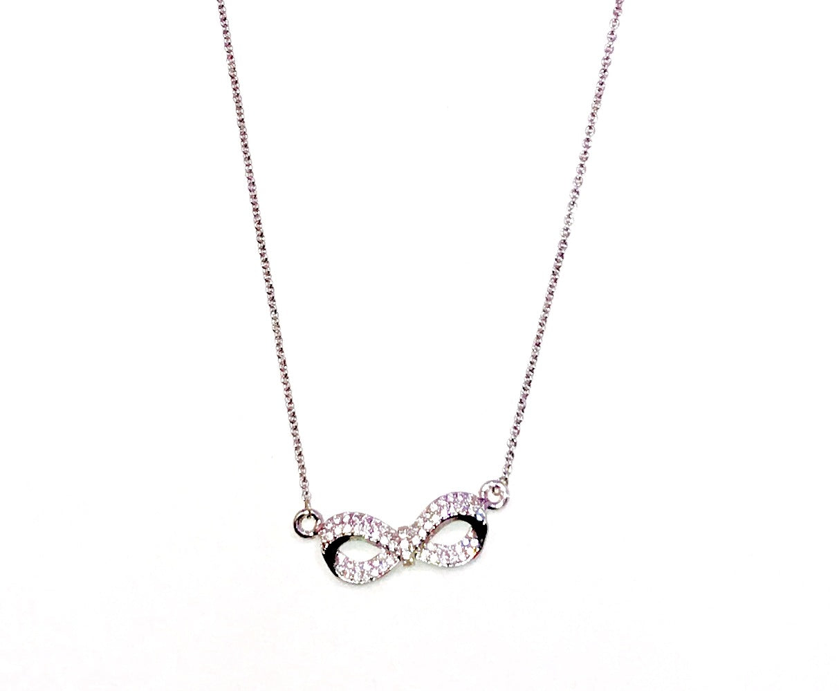Silver Infinity Necklace   Ole