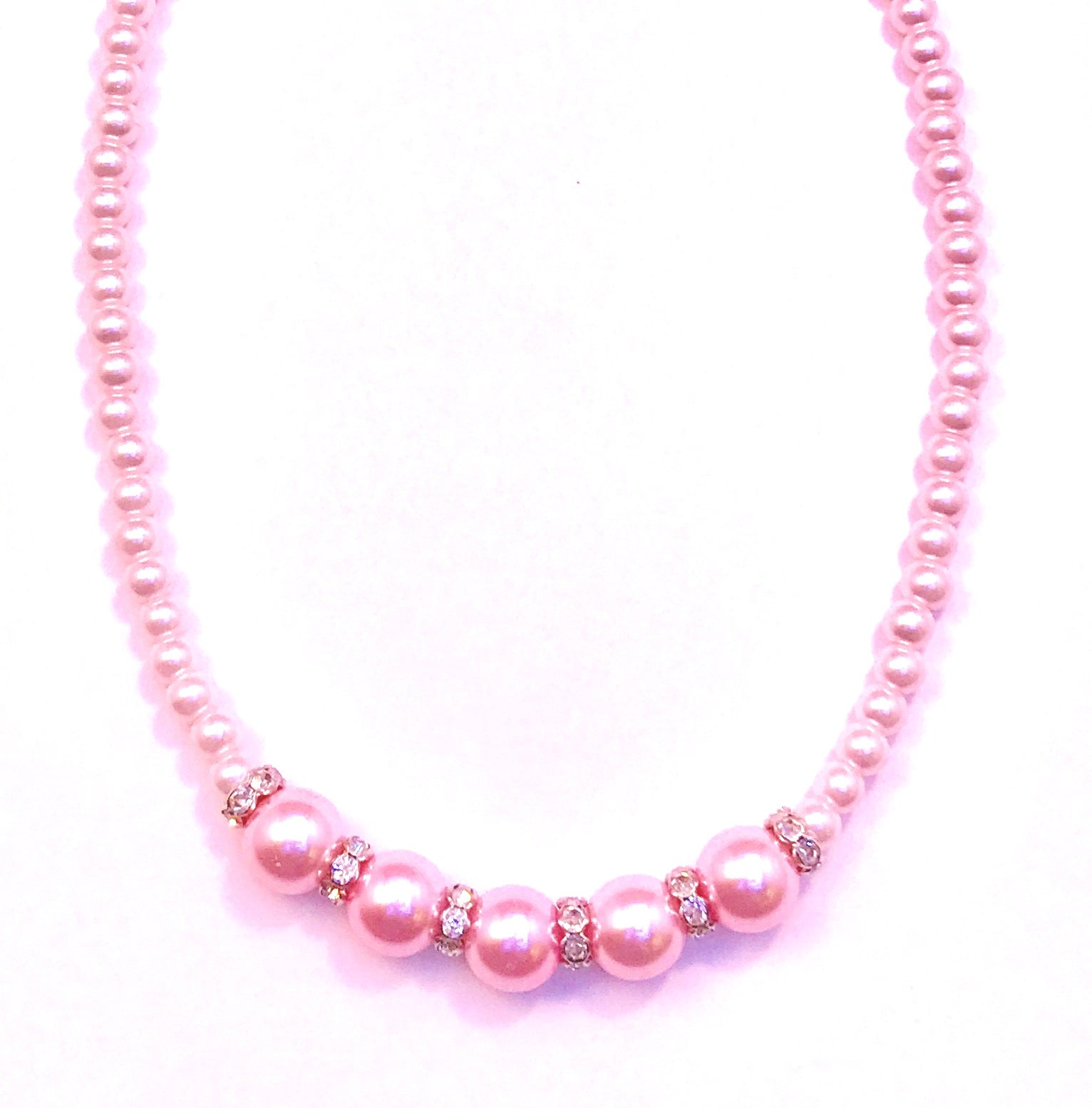 Pink Pearl Necklace  Ole
