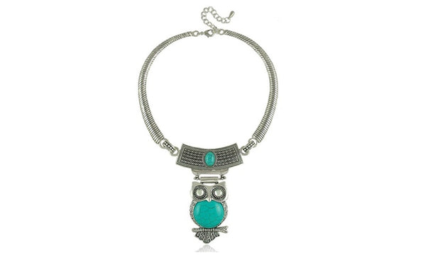 Four Epic Innate Owl Stone Studded-Collar Necklaces