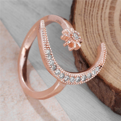 Moon Star Adjustable Ring
