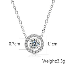 Cubic Zirconia Pendant (6 Colors)  Necklace