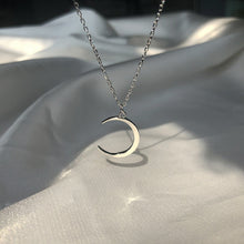 Sweet Moon Silver Plated Necklace