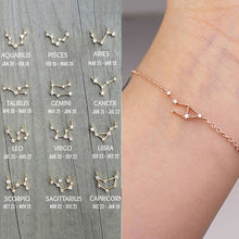 Zodiac Simple Bracelets for Women Charm Pattern Chain Bangles Baby Birthday Bracelet Jewelry Gift