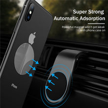 L Shaped Magnetic Car Phone Holder,Car Phone Mount Universal Air Vent Magnet Phone Holder Supports of mobile phone Smartphone