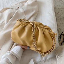 Gold Chain Leather  Bag For Women