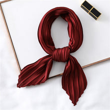 Silk-Square Neck Scarf