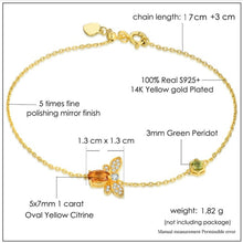 14K Gold Plated 925 Sterling Silver Bracelet