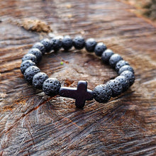 Handmade Cross Natural Stone Bracelet
