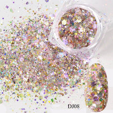 Nail Mermaid Glitter Flakes Sparkly 3D Hexagon Colorful Sequins Spangles Polish Manicure Nails Art Decorations TRDJ01-12
