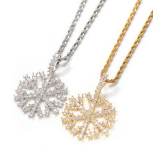 Snowflake Pendants Necklaces For Men