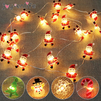 2M 20LED Santa Claus Snowflake Tree LED Light