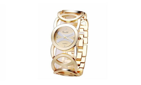 Immortal Love Accent Loop Bracelet Watches Golden color