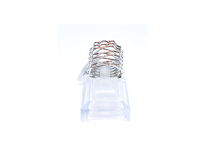 Silver color coil ring