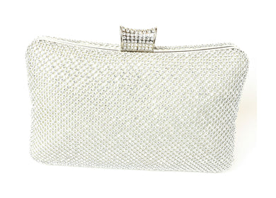 Silver Rectangle Fashion Studded Purse
