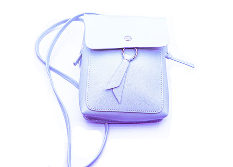 Light Blue cross body bag.