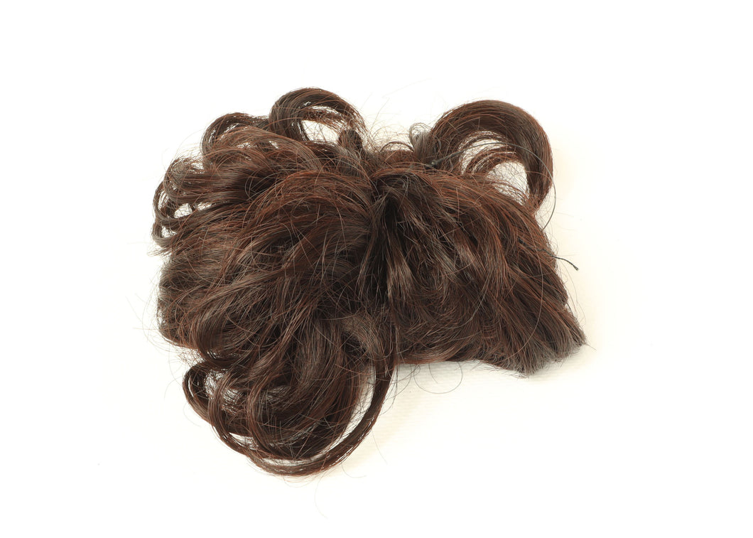 Medium Brown-thicker  Donut Elastic Chignons Ponytail Hairpiece Extension